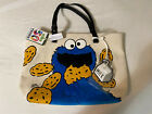 LOUNGEFLY SESAME STREET COOKIE MONSTER TOTE BAG NEW WITH TAGS