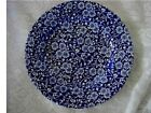 QUEEN'S Cobalt  Blue Calico Chintz Plate-Madein England