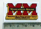 Vintage Minneapolis Moline red yellow sticker decal