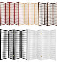 4  3 Panel Room Divider Screen Black White Cherry Natural Espresso Color NEW