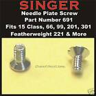 SINGER Needle Plate Screw 691  Featherweight 221 & 222