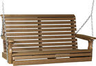 LuxCraft Poly 4 Rollback Plain Outdoor Porch Swing