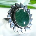 Fine pretty green Aventurine silver 925 ring size 7 3/4  ! Gift Jewelry and Love