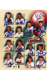 ST. LOUIS CARDINALS 1998 GROUP SIGNED 8X10 *PROOF*
