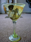 ART GLASS GOBLET SIGNED SLATER