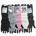 ARM WARMERS, FASHIONABLE KNIT FINGERLESS GLOVES MITTENS -  4 COLORS