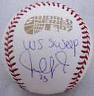 Julio Lugo Signed 2007 Official World Series Baseball PSA DNA