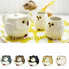 Cute Owl Tea Set Collectible Ceramic Teapot Teacup 3 PC Kotobuki Japan