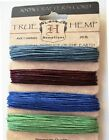 100 HEMP CRAFTERS SCRAPBOOKING JEWELRY MAKING BEAD CORD EARTHY PASTEL