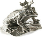 Pewter Crown Prince Frog and Lilly Pad Salt and Pepper Shakers