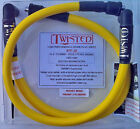 TWISTED 12mm YELLOW SPARK PLUG WIRES HARLEY ELECTRA GLIDE ROAD KING TOUR 85 98