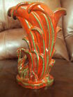 Vintage McCoy Swan Vase. Very Hard to Find  Rustic Red and Green Color. 9