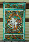 SOLD OUT20 x 34 deco girl Handcrafted stained glass Jeweled window panel