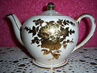 Sadler England White and Gold Teapot China