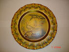 Vintage China Cabinet Plate Gold Trimmed Hand Painted Plates Dish Pottery Rare