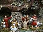 Nativity Scene Villagers Shepherd set 4 Figurines Landi Presepio Figuras Pesebre