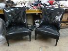 1940'S GROSFELD HOUSE DOROTHY DRAPER STYLE HOLLYWOOD REGENCY  SLIPPER CHAIRS
