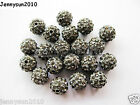 20pcs Quality Czech Crystal Rhinestones Pave Clay Round Disco Ball Spacer Beads