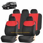 RED ELEGANT FRONT  BACK SEAT COVERS for JEEP COMMANDER COMPASS