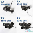 2X 800 1300 1600 3200 GPH Circulation Pump Wave Maker Aquarium Reef Powerhead