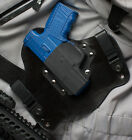 Walther PPS Black Leather Kydex Hybrid Gun Holster IWB Tuckable Concealed Left