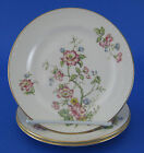 Homer Laughlin G3500 3 Bread Butter Plates Eggshell Georgian Flowers Floral VTG