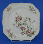 Homer Laughlin G3500 Square Salad Plate Eggshell Georgian Flowers Floral VINTAGE