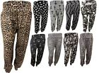 New Womens Plus Size Printed Alibaba Harem Trousers Baggy Pants 16-26