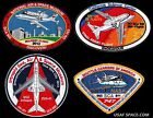 NASA COMPLETE SET OF 4 FINAL FERRY FLIGHTS + SHUTTLE CARRIERS SCA PATCH