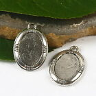 10pcs Tibetan silver oval picture frame charms h2848
