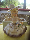 RELPO Reliable Glassware & Pottery Co Inc. 1956 Fancy Girl Figurine Planter