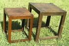 Crafts Era Hand Made Wood Stands Tabourets Tables c1910