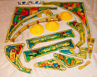 Bally Night Rider Pinball Plastic Set Complete w/ bumper caps and spinners