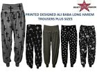 Womens New Cross Skull Long Harem Pants Ladies Plus Size Alibaba baggy Trousers