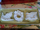 AVON 2001 PORCELAIN ORNAMENT GIFT SET--NEW--SHIPS IN 1 DAY