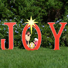 Joy Nativity Printed Yard Sign