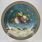 Debbie Mumm Snow Angel Village With Bell Plate Holiday Christmas Folk Art
