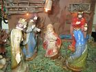Nativity Wood barn and figurines set
