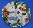 Fitz Floyd Khristmas Kitty Cookie Canape Plate Cat Kitten Ornaments Christmas