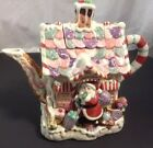 Fitz and Floyd Essentials Candy Lane Express Tea Pot Christmas Decor MINT