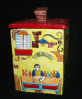 Nino Parrucca Bar Canister Biscuit Jar Hand Crafted Italy 1960s