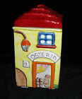 Nino Parrucca Osteria (Tavern) Canister Biscuit Jar Hand Crafted Italy 1960s