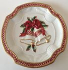 Fitz Floyd Essentials Christmas Canape Plate Holiday Bells Party Wall Plaque