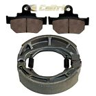FRONT BRAKE PADS & REAR BRAKE SHOES FITS SUZUKI VL250 INTRUDER LC250 2000-2007