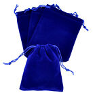 lot of 25 50 100 Blue 5x 7 Jewelry Pouches Velvet Gift Bags Wedding Favors