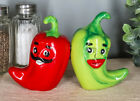 Magnetic Salt Pepper Shakers Collectibles Red Hot Chilli Peppers Spicy Decor
