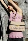 3010 Chanel AUTH NEW CC Glass Jewel Buttons Blouse 36 12P Textured Pink Peplum