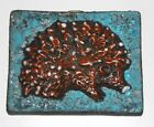 Ruscha Hedgehog Fat Lava Space Age Pop Art Psychedelic Wall Tile plaque
