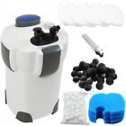 Aquarium Canister Filter 370 GPH External Filter HW 303B + 9W UV Sterilizer