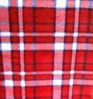 Plaid Red and Blue Plaid Fleece Fabric By the Yard